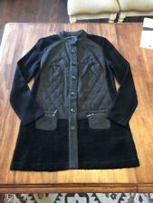 Gerry Weber Womens Jacket Size 40 10 Black Quilted Long Sleeve Sweater