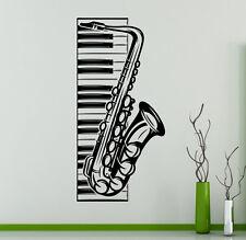 Music Piano Vinyl Decal Saxophone Vinyl Stickers Home Interior Window Sticker 20