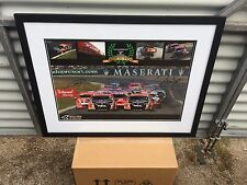V8 SUPERCARS  - 2006/2007 Toll racing framed poster- signed Kelly/Tander