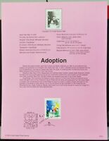 Scott # 3398 - US Souvenir Sheet - Adoption - MNH - 2000