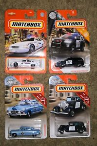 Lot 4 Matchbox Police '33 Plymouth '51 Hudson Chevy Caprice '16 Ford Interceptor
