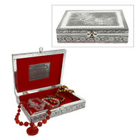 Shop LC Handmade Aluminium Oxidized Bird Pattern Storage Jewelry Box Organizer