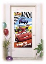 DISNEY CARS RSN - DOOR POSTER BANNER  - CHILDREN'S BIRTHDAY PARTY DECORATION