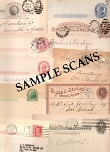 10~1800s -1900s US POSTAL CARDS MIXED LOT~ADVERTISEMENTS MSGS FANCY CANCELS