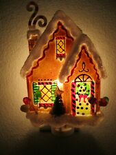 St. Nicholas Square Acrylic Ginger Bread House Bottle Tree Night Light