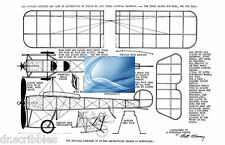 Model Airplane Full Size Printed Plan Peanut Scale Castaibert IV & Article