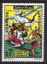 Comic museum Western  horse cowboy shotgun indian URUGUAY Sc#1830 MNH STAMP cv$2