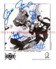 TESLA BAND AUTOGRAPHED 8x10 RP PROMO PHOTO ALL 5  LOVE SONG