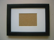 BLACK ACEO/SCHOOL PICTURE 3.5X2.5 INCH PICTURE FRAME WITH WHITE MOUNT