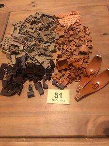 Lego Dark Tan Flesh Nuget Dark Brown Mixed Joblot (51)