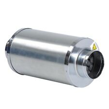 "4"" inch Duct Muffler Inline Fan Silencer Noise Reducer Carbon FIlter Can Hydro"