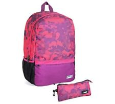 eadb8644f19d PUMA Purple   Pink Backpack Pencil Case Womens Girls Rucksack School Bag 23l