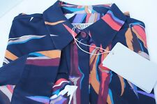 Emilio Pucci Women's Shirt Printed Jersey Rayon Button up Top Holiday