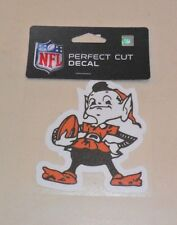 NFL CLEVELAND BROWNS  4 X 4 DIE-CUT DECAL OFFICIALLY LICENSED PRODUCT