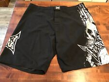 Perfect Tapout Fighting Shorts, Black w/ Skulls, 38, Mma Grappling