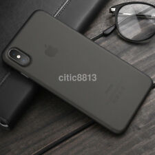 0.3mm Black Slim Matte PP Ultra-thin Back Skin Cover Case Bag for Apple iPhone X