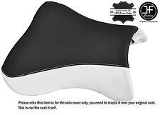 DESIGN 2 BLACK & WHITE VINYL CUSTOM FITS KAWASAKI ZX9R 98-02 FRONT SEAT COVER