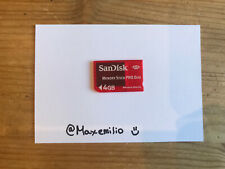 Official SanDisk | Red Memory Stick | PRO Duo 4GB Magic Gate Card | SONY PSP