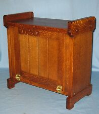 RARE ANTIQUE SOLID OAK COUNTER/TABLE TOP/STAND FLOOR STOOL CABINET MISSON STYLE