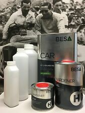 Peinture Carrosserie: Kit 3,5 L Vernis Auto BesaGlass Antirayures High Solid