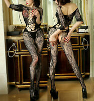 7083 Fishnet BODYSTOCKINGS Babydoll  Lingerie Underwear SUSPENDER Ladies Catsuit