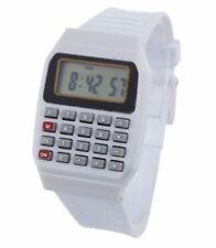W05 Kids Digital Wrist Watch Boys Girls Time Date & Calculator Wristwatch White