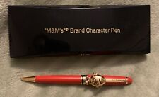 NEW M&M's Character Ballpoint Pen Red Gold