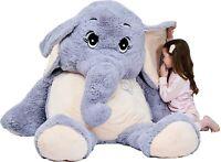IKASA Giant Elephant Stuffed Animal Plush Toys Gifts (Gray, 72 inches) HUGE!!!