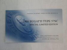 Franklin Mint Paperwork 1936 Bugatti Type 57SC LE