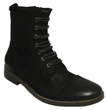 Kenneth Cole Men's Long N' Tall Boot Black Leather/Suede US 9.5 NOB