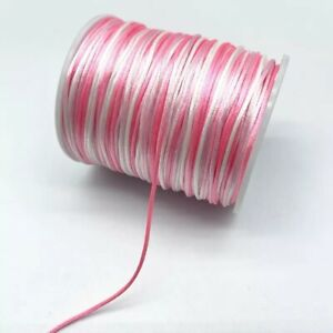 1MM Gradual Change Colorful Chinese Silk Satin Cords Jewelry Making Accessories