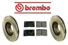 Jaguar XJ12 1974-1979 Front Brake KIT Disc Rotors & Pad Set Brembo/Mintex
