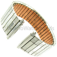 18-22mm Speidel Silver Tone Therapeutic Copper Back Twist-O-Flex Watch Band 161