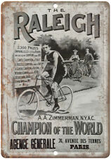 """The Raleigh Bicycle Vintage Ad 10"""" x 7"""" Reproduction Metal Sign B338"""