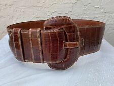 Vintage X Wide Genuine Alligator Skin Belt Sz 30�