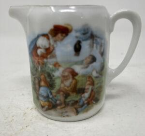 Victorian Child's Tea Set Sleeping Beauty Creamer Germany Dwarfs Gnomes Elves