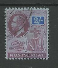 MONTSERRAT SG57 THE 1916-22  GV 2/-  PURPLE& BLUE/blue FINE USED CAT £60