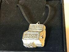 "Slot Machine TG246 English Pewter On 18"" Black Cord Necklace"