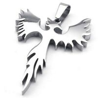 Schmuck Edelstahl Phoenix Feuervogel Anhaenger mit 60cm Kette, Halskette fuer IS
