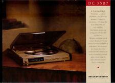 Rare Vintage Original Marantz Century Collection Dealer Sheet CD Player DC 3587
