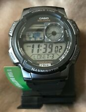 Casio AE1000W-1BVCF Sport Watch with Black Resin Band for Men -NEW