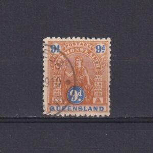 QUEENSLAND AUSTRALIA 1906, SG# 283, 9d brown & ultramarine, Perf 12×12½, Used