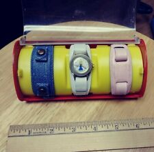 1973 Bradley Barbie Wrist Watch W/ 3 Bands In Plastic Case, Figuralmattel