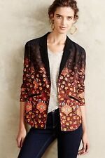 Anthropologie Cartonnier Women's Size 8  Floral Telluride Blazer Fall Jacket