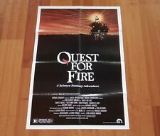 """ORIGINAL MOVIE POSTER """"QUEST FOR FIRE"""" 1981 FOLDED ONE SHEET"""