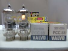 MATCHED PAIR 1960's Amperex Holland Valvo pcc88 (6dj8 6922) δ Tube Tube New 17