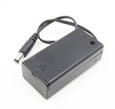 9V Volt PP3 Battery Holder Case Box ON/OFF Cover DC 5.5/2.1mm Plug BBC