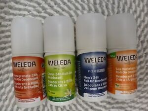 WELEDA~U PICK YOUR SCENT~4 DIFFERENT SCENTS~ALUMINUM FREE~ 24H ROLL ON DEODORANT