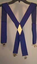 Schmidt Workwear Men's Blue Solid Elastic~Stretch Suspenders EUC