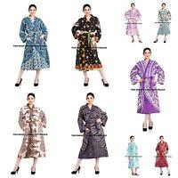 Indian Cotton Mandala Print Intimates Nightwear Kimono Dressing Gown Bath Robe
